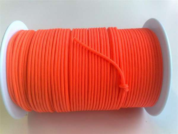 Dyneema Schnur 2.7 mm, gemantelt, orange