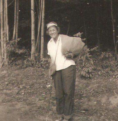 Emma Gatewood mit ihrem AT-Gepäck