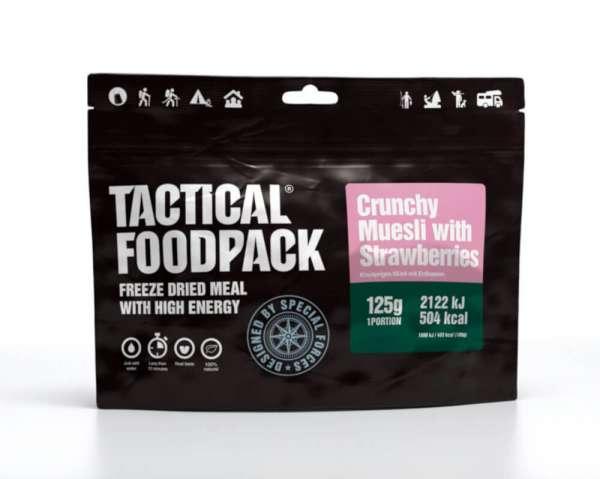 Tactical Foodpack Crunchy Müsli mit Erdbeeren