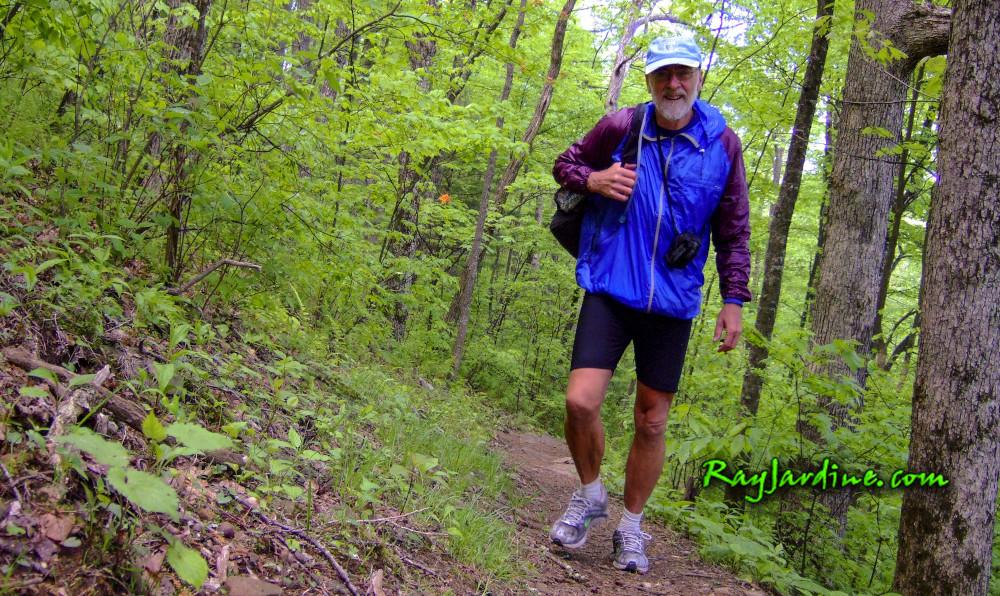 Ray Jardine im Wald der Appalachen