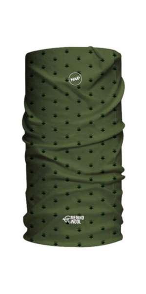 H.A.D. Merino Multifunktionstuch Army Green Rhombus