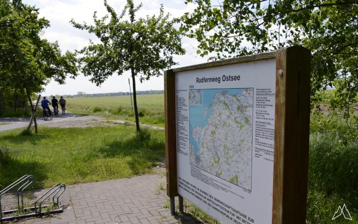 Karte am Ostseeküsten-Radweg