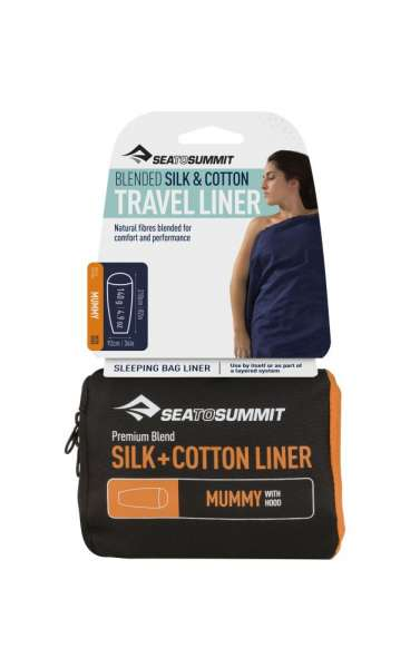 Sea To Summit Silk-Cotton Travel Liner Mummy with Hood