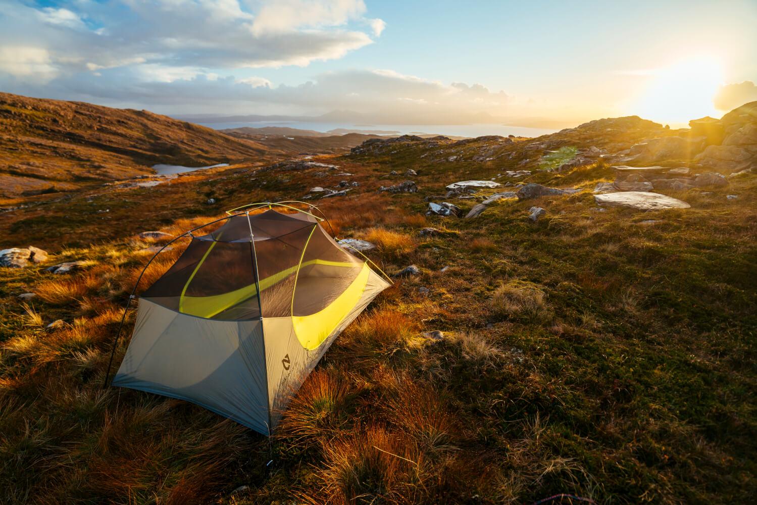 Dragonfly Tent im Sonnenuntergang