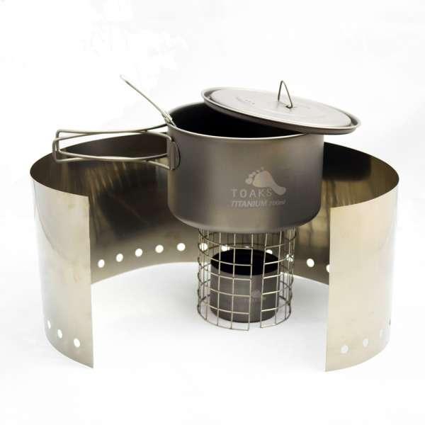 Toaks Ultralight Titanium Cook System CS03 mit 700 ml Topf