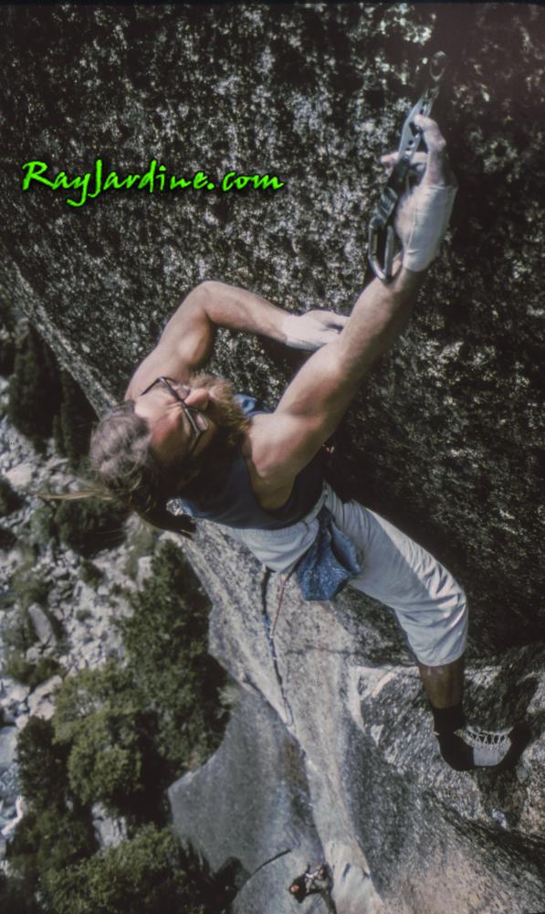 Ray Jardine beim Klettern