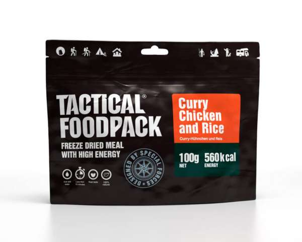Tactical Foodpack Reiscurry mit Hähnchen