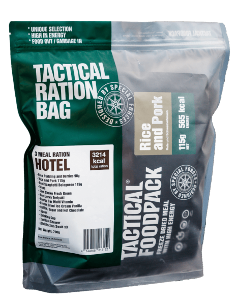 Tactical Foodpack HOTEL 3 Meal Ration