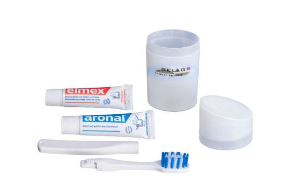 BasicNature ultraleichtes Elmex/Aronal Zahnputzset