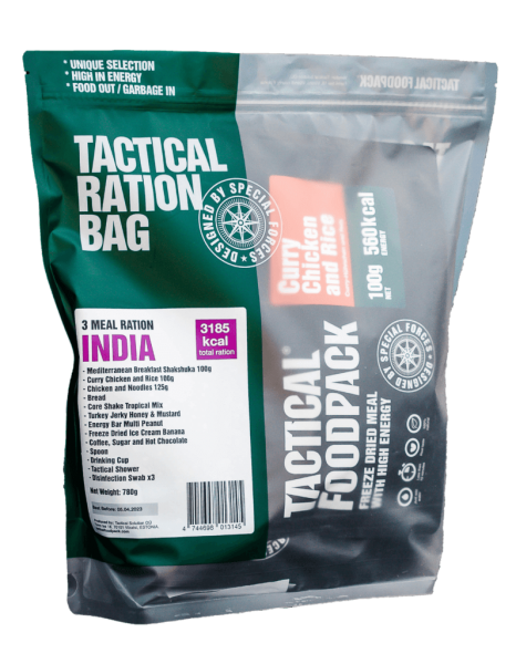 Tactical Foodpack INDIA 3 Meal Ration