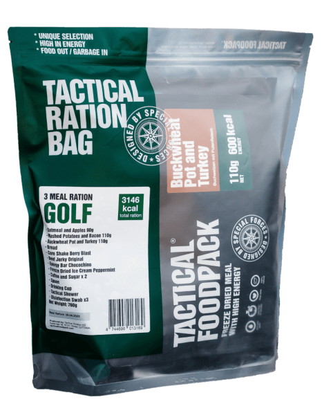 Tactical Foodpack GOLF 3 Meal Ration